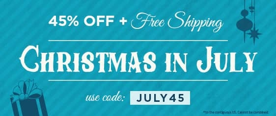 45% off & Free Shipping to Contiguous US - Use Code July45 at checkout.